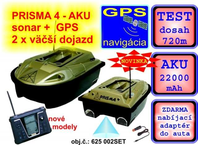 5d9c8cfe3 Čln zavážací Prisma 5 + Sonar + GPS + 22 000mAh akumulátory ...