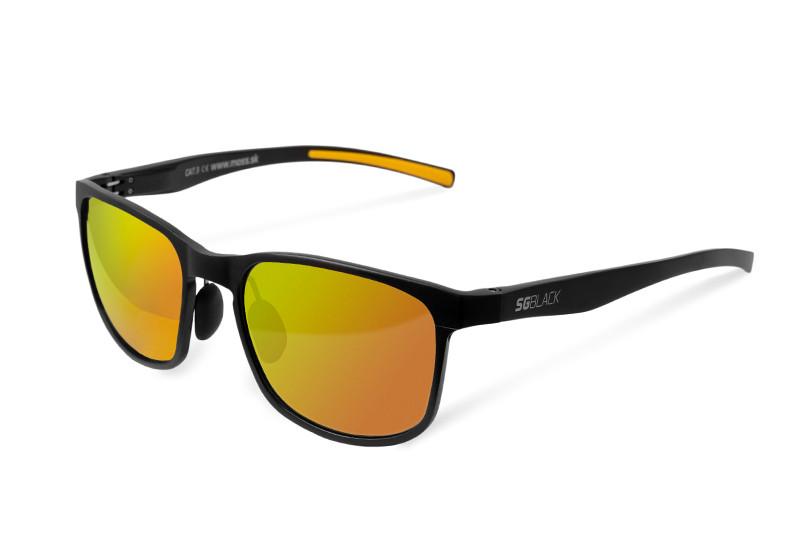Polarizačné okuliare Delphin SG BLACK oranžové sklá - Slnečné ... 27f420a0bc2